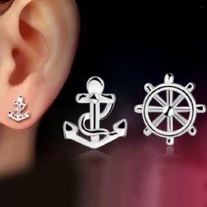 Jewelry - Dainty Sterling Silver Nautical Earrings